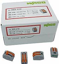 100 Stück Wago 222-412 Verbindungsklemme 2 Leiter