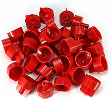 100 Stücke Kunststoff Wand Bodenfliesen Leveler Spacer Clips Nivellierung System Werkzeuge(DL-F02 Rot)