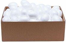 100 Styroporeier, 6,0 x 4,5 cm, weiß, Eier,