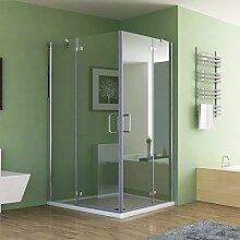 100 x 80 x 195 cm Duschkabine Eckeinstieg Dusche