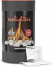 100 x Feueranzünder im Fass von Ecolighters, für Grill, Ofen und Feuerstellen geeigne
