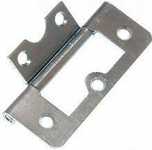 100 X Flush Scharnier Kabinett-Schrank BZP verzinkter Stahl 63mm + Schrauben
