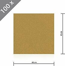 100 x HSM Teppichfliese Nadelfilz Bodenbelag selbstklebend für Treppe, Kinderzimmer oder Küche 40cm x 40cm BEIGE