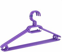 100 x Kleiderbügel drehbar Set Wäschebügel Kinderschrank Bügel Kunststoff Drehbügel (violett)