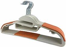 100 x Kleiderbügel Orange Kunststoff RSR Hangers Antirutsch / hochwertiger Kunststoffkleiderbügel / 360° drehbarer Haken/ platzsparend / Hemden / Blusen / Jacken / Hosen / Kleider / Krawatten