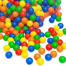 1000 bunte Bälle Bällebad 5,5 cm Farbmix