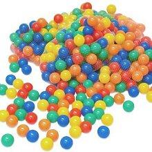 1000 bunte Bälle Bällebad 6 cm Farbmix