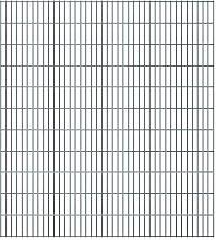 1000 cm x 223 cm Gartenzaun Bramblett aus Metall