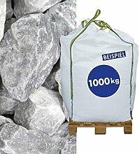 1000 kg Big Bag Gabionen Steine Marmorbruch Ice