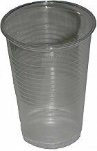 1000 Plastikbecher Einwegbecher Trinkbecher klar 0,2 l + 1 Glasbeutel