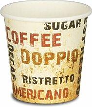 """1000 Premium Espressobecher - 4oz, 100ml, Kaffeebecher, Pappe, Coffee to go Becher """"Barista"""", Pappbecher, Becher To Go, Einwegbecher"""