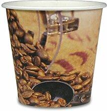 "1000 Premium Espressobecher - 4oz, 100ml, Pappe, Coffee to go Becher ""Coffee Beans"", Pappbecher, Becher To Go, Einwegbecher, Kaffeebecher"