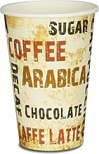 "1000 Premium Kaffeebecher - 12oz, 300ml, Pappe, Coffee to go Becher ""Barista"", Pappbecher, Becher To Go, Einwegbecher"