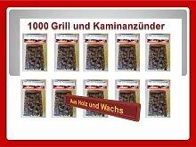 1000 St. Bio Anzünder Kaminanzünder Grill Anzünder Holz Wachs
