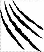 1000 Stück Monster Kralle kratz Spuren Autoaufkleber (Schwarz)