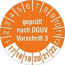 1000 Stück Prüfplaketten geprüft nach DGUV