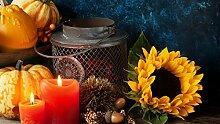 1000 Stück Puzzle Holzpuzzle Kerze Sonnenblume