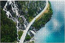 1000 Teile-Luftbild der malerischen Bergstraße