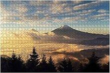 1000 Teile-Luftbild des Berges Fuji mit