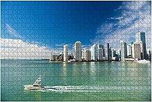 1000 Teile-Luftbild von Miami Wolkenkratzer mit