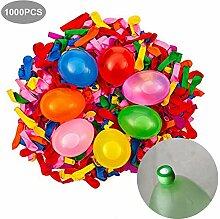 100 bunte Wasserbomben selbstschließend mit Füllhilfe Wasserballons Luftballons