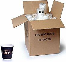 1000 x Coffee to go Becher Espresso 0,1l Coffee