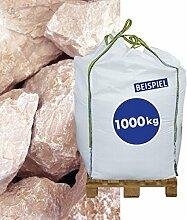 1000kg BigBag Gabionen Steine Marmorkies Bianco