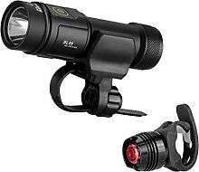 1000LM CREE LED Fahrradlicht Set IP6X Wasserdicht Usb Frontlicht Set 152 Lux für Outdoor Sports,Taschenlampe 4 Licht Stufen inkl. 26650 Li-Ion wiederaufladbar Akku (3,7V, 4800mAh)