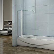 100cm Badewannenaufsatz Duschabtrennung 4mm