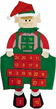 100cm Elf Adventskalender - Stoff Adventskalender