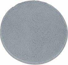 100cm Flauschigen Antiblockier-zottige Bereich Teppich Schlafzimmer-Teppichbodenmatte - Grau