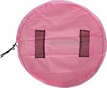 100cm Tragbare Kinder Spielzeug Aufbewahrungstasche Spielmatte Veranstalter Beutel Picknickdecke - Rosa, /