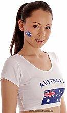 100er Australien Tattoo Fahne Fan Set - WM