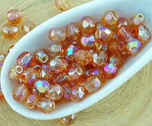 100er Crystal Orange Rainbow Halbe Runde
