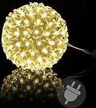 100er LED Lichterball Leuchtfarbe warm weiß Ø 15
