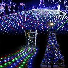 100er LED Lichternetz außen Solar,1.5m x 1.5m,8
