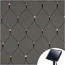 100er LED Lichternetz außen Solar,1.5m x