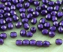 100er Pearl Pastel Burgundy Purple Tschechische