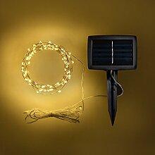 100er Solar LED Micro Draht Lichterkette warmweiß Lights4fun