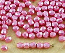 100er Valentine Pastell Rosa Perle Tschechische