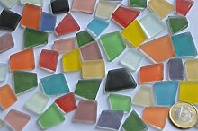 100g Glas Mosaiksteine unregelm. Buntmix Frost