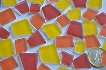 100g Glas Mosaiksteine unregelm. Sonnenmix Frost