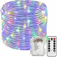 100L Lichterschlauch Micro Lichterkette mit 8