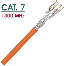 100m CAT. 7 Netzwerkkabel Profi-Line - Simplex - S/FTP - 1300 MHz - 100% Kupfer