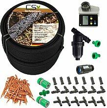 100m CS Perlschlauch Startup Z13 mit Bewässerungscomputer,Wasserfilter,Druckregulator und umfangreichem Zubehör