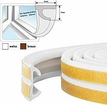 100m Fensterdichtung Gummidichtung selbstklebend WEISS V-Profil -- selbstklebende Türdichtung Gummi PROFIL Dichtung Dichtungsband Profildichtung Fenster Tür