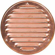 160mm /Ø 125mm Grau L/üftungsgitter mit Insektenschutz Rund Metall Gitter Au/ßenma/ß