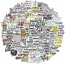100Pcs Englische Buchstaben Inspirierende Zitate