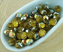 100pcs Kristall Light Topaz Gelb Klar Metallic