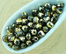 100pcs Kristall Metallic California Gold Nächte